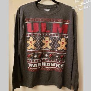 Champion Authentic ULM Gray Warhawks Top Shirt